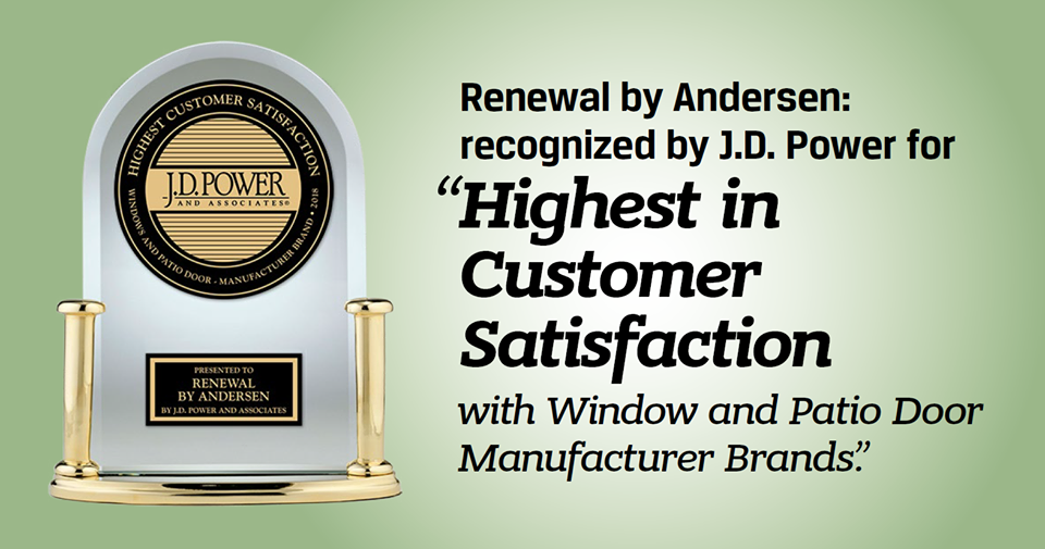 Highest in Customer Satisfaction with Window and Patio Door Manufacturing Brands